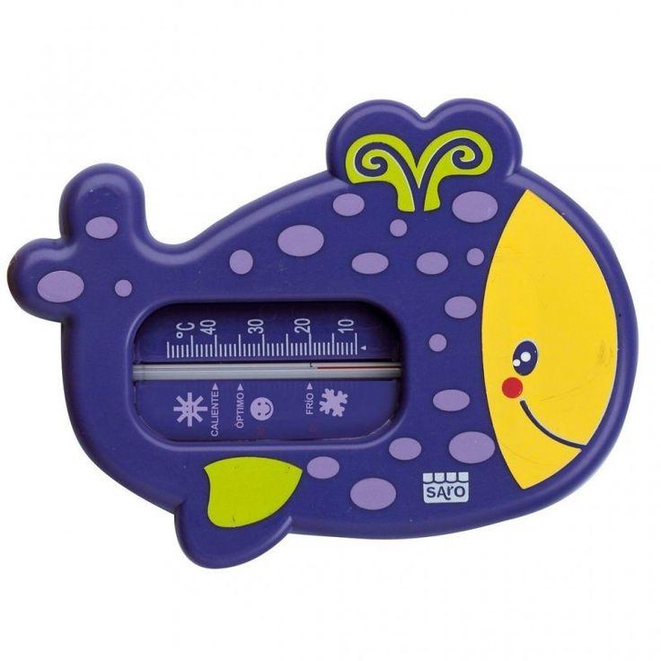 Ademas de un Termómetro para el baño de tu #bebe su forma de ballena le resultará un divertido juguete