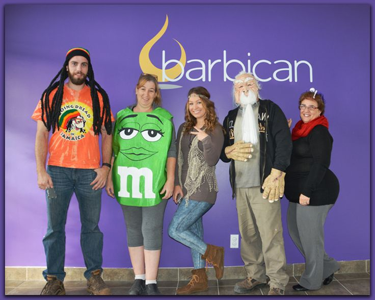 Staff members at Barbican, showing spirit! Happy Halloween!