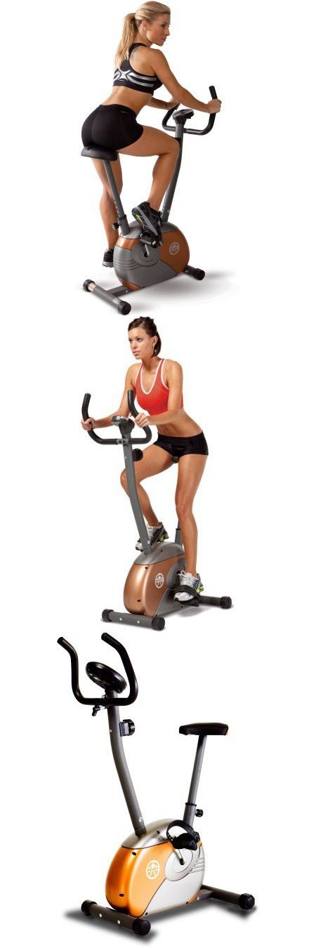 Indoor upright Stationary Exercise Cycling Bike Health and Fitness Cycling Equipment Cardio Training Magnetic Resistance Bicycle Workout Machine Computer Tracks Time, Speed, Distance and Calories Burn