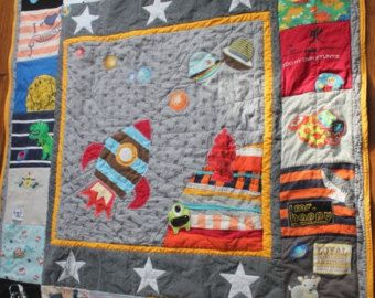 Custom Memory Quilt using baby clothes or old keepsake by kokobaru