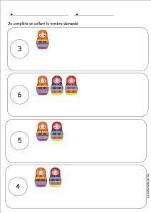 Mise à jour: des fiches pédagogiques numération matriochkas compléments jusqu'à 6 compléments jusqu'à 10 écrire les nombres 8 et 10 + compléments Compléments de 9 à 17 Compléments à coller 19 et 20 dénombrer et compléter 14 15 17 18