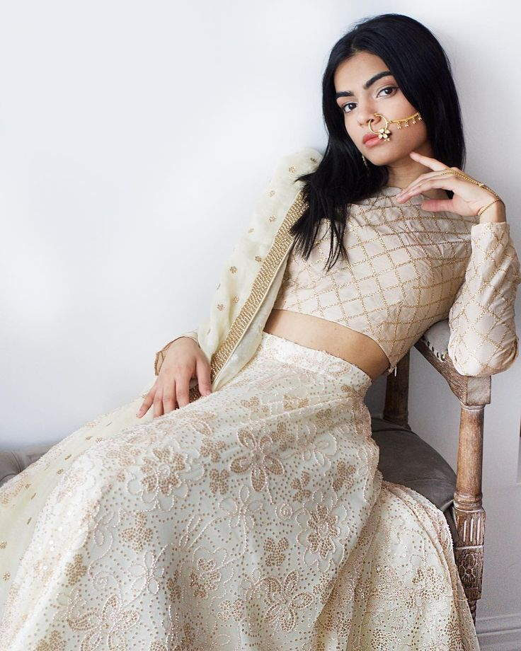 """1,342 Likes, 12 Comments - M A N I J A S S A L (@manikjassal) on Instagram: """"#NEWNEW Shop the New NEENA top in Gold x FARISHTA skirt at the MANI JASSAL Showroom and at The…"""""""