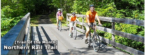 New Hampshire's Northern Rail Trail. Trail of the Month, March 2013