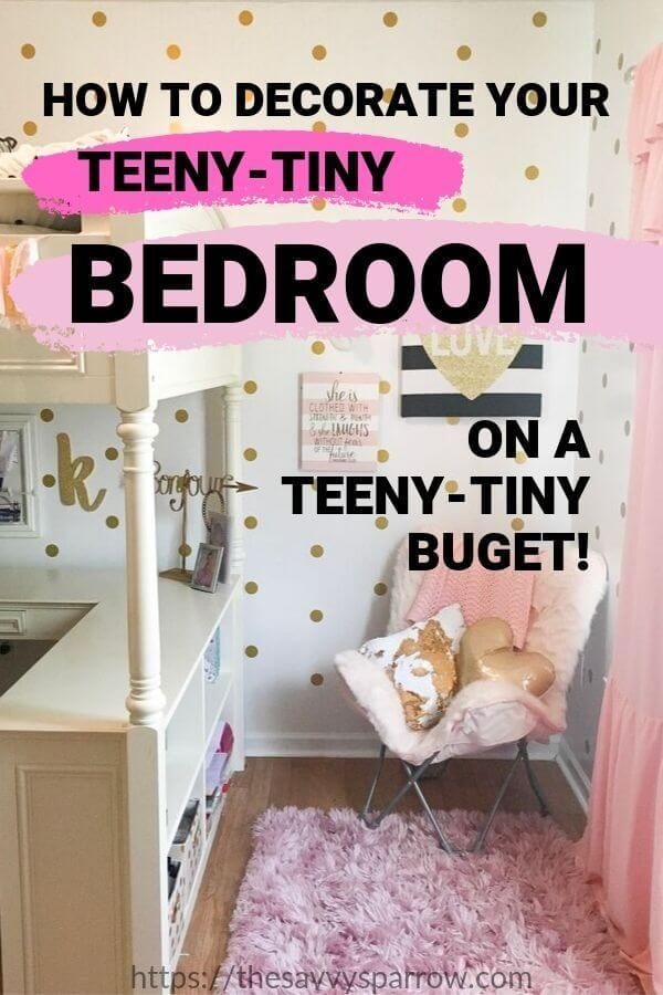 13 Small Bedroom Decorating Ideas On A Budget Small Bedroom Decor Small Bedroom Ideas On A Budget Small Kids Bedroom