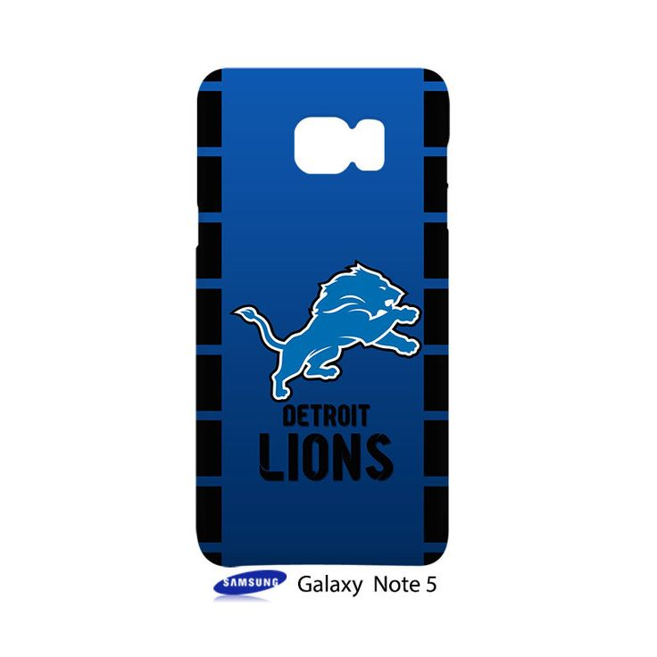 Detroit Lions Samsung Galaxy Note 5 Case Cover Wrap Around