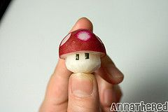 How to make a radish mushroom and Mario mushroom