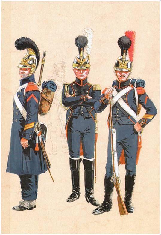 Coiffure France 19eme - Uniforme du Génie 12eme Empire - Les costumes militaires -