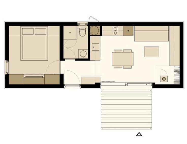 Freedomky 2 plus classic floor plan option 2 small for Small space house plans