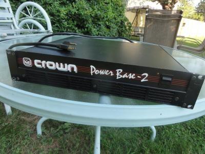 CROWN Amplifier -POWER BASE 2 - Amp - Professional DJ Sound System Equipment - by Worldseedsupply