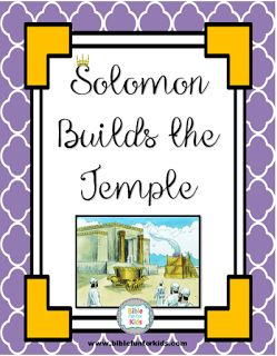Solomon Rebuilds the Temple lesson, ideas and printables #Biblefun #OTBiblelesson