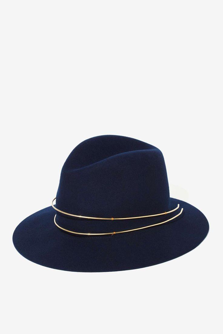 Janessa Leone Wool + Gold Hat