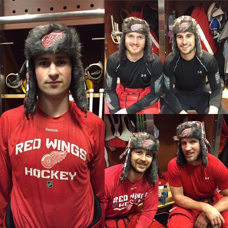 Detroit Red Wings Hockey Club (@detroitredwings) • Instagram photos and videos 12-14-15 winter hat giveaway/home game versus Buffalo. Clockwise: Gus Nyquist,Brendan Smith,Justin Abdelkader and Tomas Tatar and Dylan Lakin. -This Team-⛸⚫️⚪️-