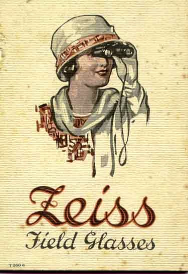 1923 art cover of Carl Zeiss binocular catalog