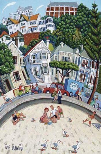 Oriental Bay Beach by Timo Rannalli for Sale - New Zealand Art Prints