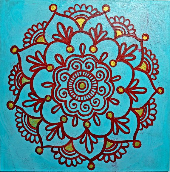indian henna motif painting 2 via Etsy