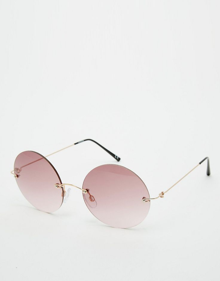 Imagen 1 de Gafas de sol redondas sin montura de ASOS