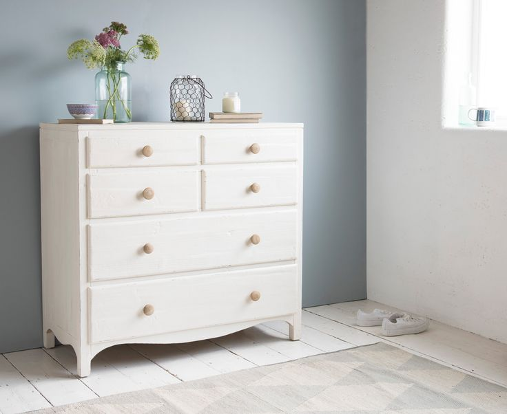 £425 Prairie Chest of Drawers | White Chest of Drawers | Loaf