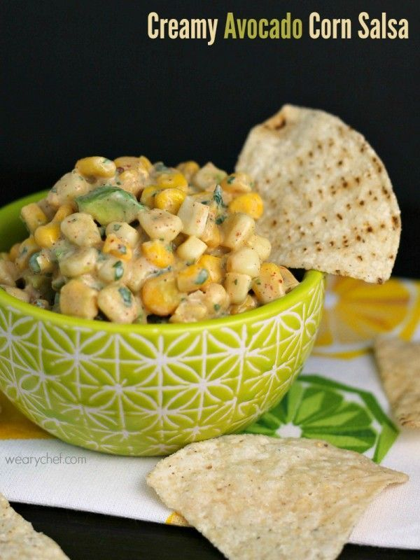 Creamy Avocado Corn Salsa - Perfect for dipping or piling on tacos!