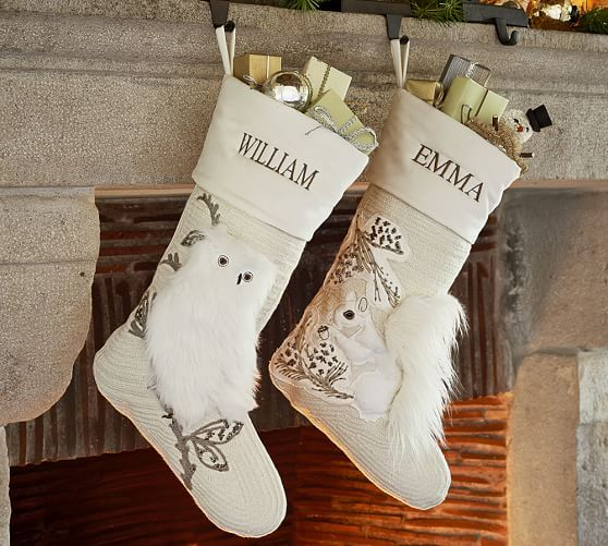 Woodland creature stockings?!  In Love!