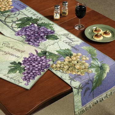 Table Runner New 865 Table Runners Grapes