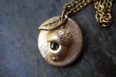 This Artist's Journey: Redeemed... New Bronzclay Acorn Necklace