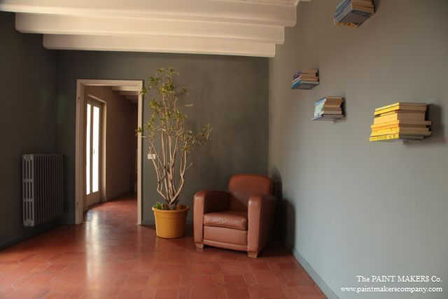 GREY IS THE COLOUR. Walls painted in Tortona Grey by The Paint Makers Co.