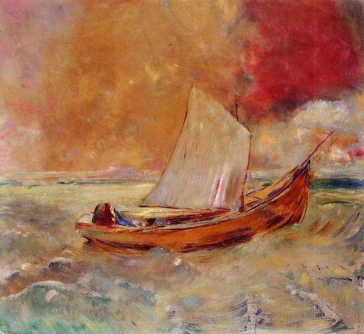 Yellow Boat by Odilon Redon
