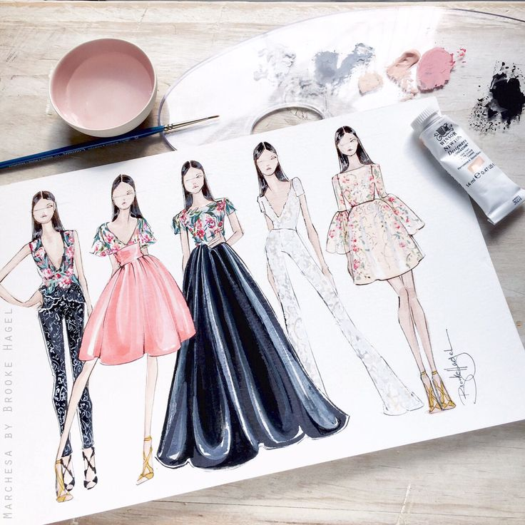 fabulous doodles fashion illustration blog by brooke hagel sketches inspired by resort collections