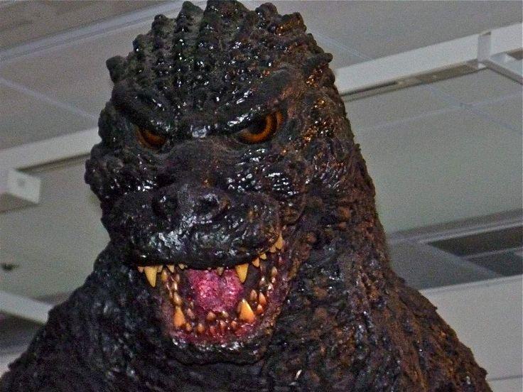 Heisei Godzilla suit from Tokusatsu History display.