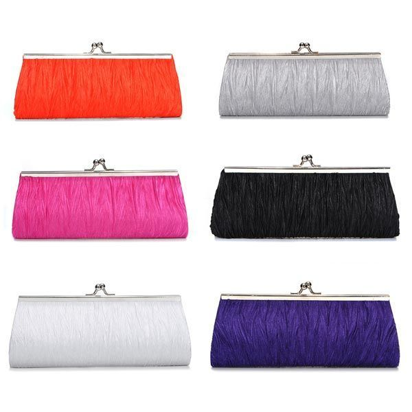 New elegant satin pleated bridal evening clutch handbag  clutch bags yellow #clutch #bags #cheap #uk #clutch #bags #hermes #clutch #bags #in #new #look #clutch #bags #india