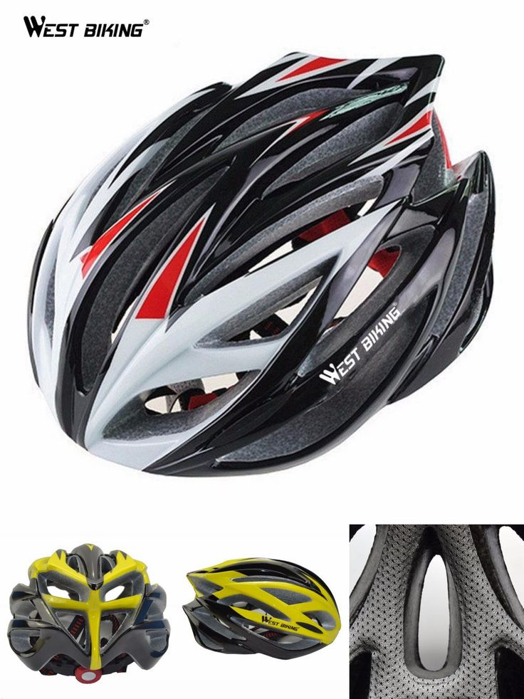[Visit to Buy] WEST BIKING Multi-Sport Helmet Cycling BMX Mountain Trinity Bicycle PVC 22 Air Vents Bicicleta Helmet Visor with Lining Pad Kask #Advertisement