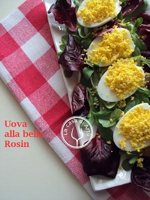 Uova alla bella Rosin - cucina piemontese