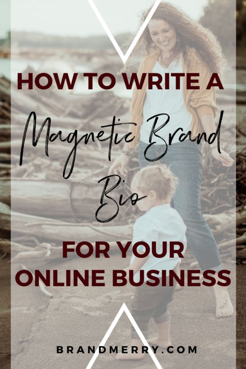 How to Write a Magnetic Brand Bio for Your Online Business // Brand Merry