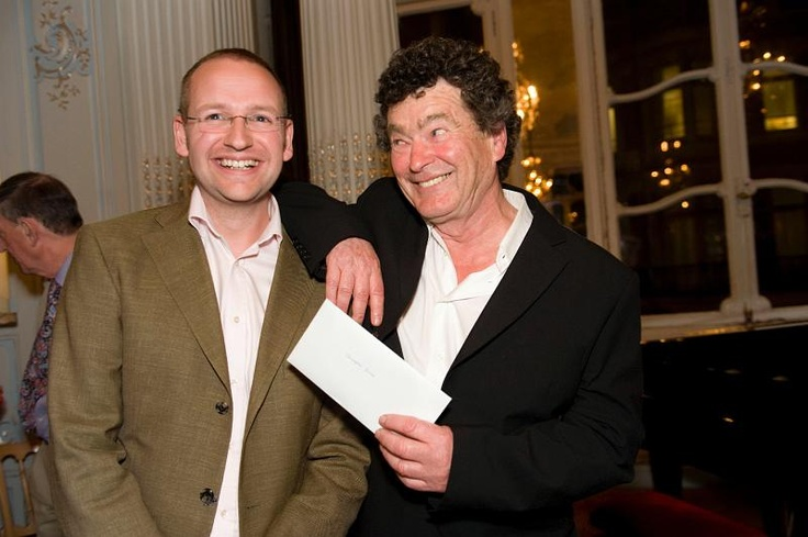 2009 National Poetry Competition winner Christopher James with judge Brian Patten