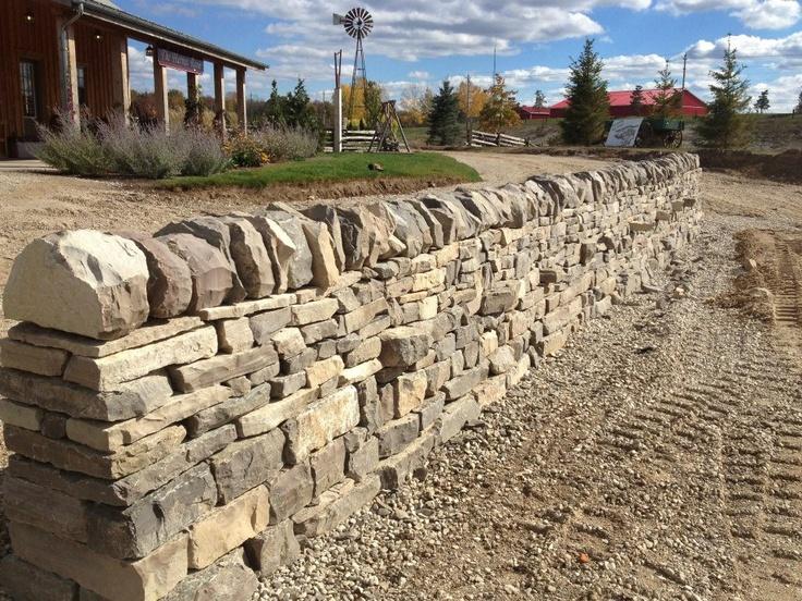 Stonewurx - International DryStone Walling Festival Wall built with Upper Canada Mocha DryStone Blend