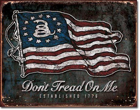 Dont Tread on Me - Vintage Flag Tin Sign