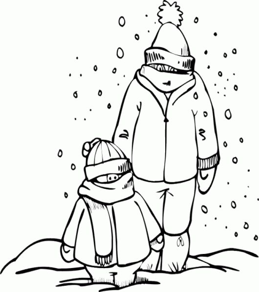 two men dressed in thick snow day coloring pages winter coloring pages kidsdrawing free coloring pages online