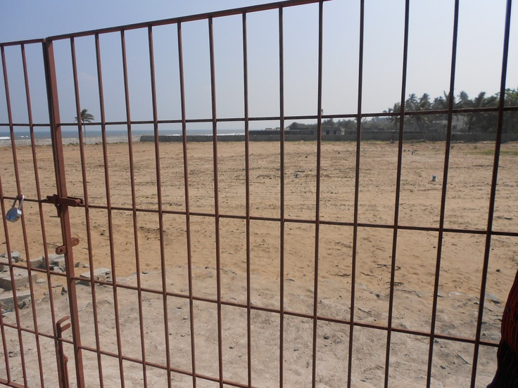 The site of old Kari Kattu Kuppam, from which hundreds of Indian have been displaced to make room for hotels.