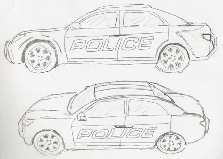 sketch of police car policecar2