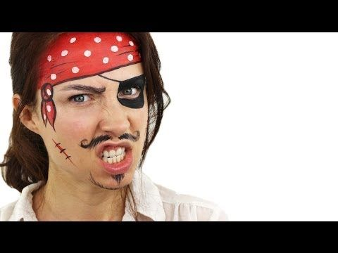 Beginners Pirate Face Painting Tutorial - YouTube #pirate #facepaint #Snazaroo