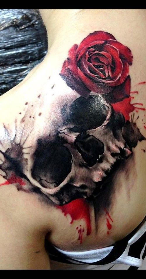 black and red skull tattoos - Google Search                                                                                                                                                                                 More