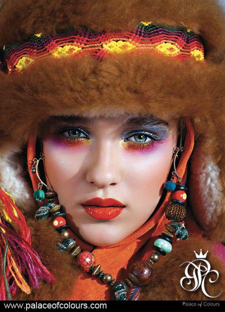 """RUSSIAN PRINCESS"" Photography from the album ""PALACE OF COLOURS. THE MAGIC OF MAKE-UP."" (www.palaceofcolours.com) photo & make-up: Dorota Kościukiewicz-Markowska"