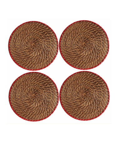 Red Bead Placemat - Set of Four by Jay Import on #zulily today