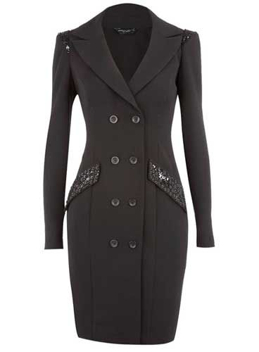 coat dresses for women | Style on Trial: Black embroidered coat dress from Dorothy Perkins ...