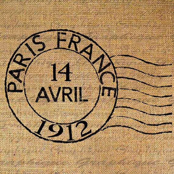 postmark. The day of the Titanic..