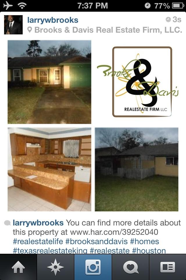 #realestatelife #brooksanddavis #homes #texasrealestateking #realestate #larrywbrooks #houston #realestateagents #thetimetobuyisnow #reo #hud #attorneys #leadership #investors #wedevelop