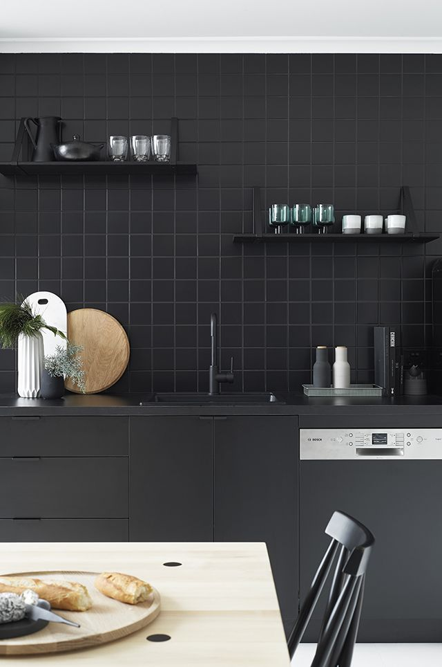 Black Kitchen Tile contemporary kitchen tiles black e inside inspiration decorating