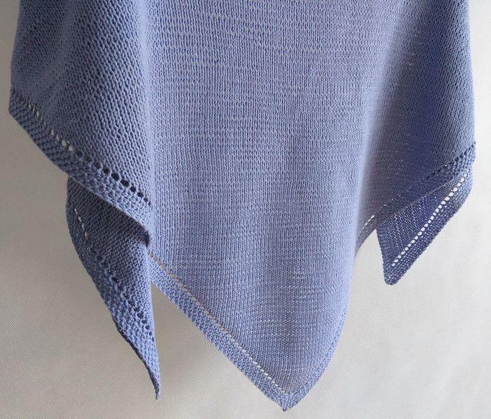 Bawełniana chusta wykonana na drutach. - Motki - Chusty