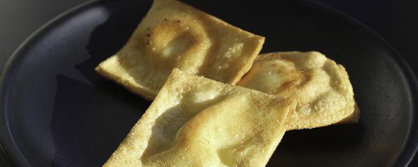 Ravioli di formaggi = Italian Nachos from Jamies' restaurant
