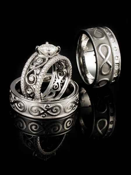 Infinity Symbol Wedding Set